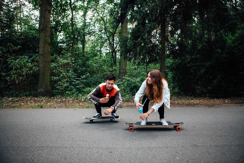 Infolklore - Edinburgh Photographer - Couple Photoshoot - Lifestyle - Skate